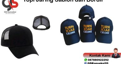 Topi Jaring Sablon dan Bordir